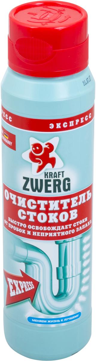 Очиститель стоков Kraft Zwerg, экспресс, 500 г54217Очиститель стоков - гранулы 500 гр.Быстро освобождает стоки от пробок и неприятного запаха.-эффективно удаляет любые засоры-размораживает трубы, за счет содержания алюминия-высокая концентрация-нельзя использовать для органических труб-не содержат агрессивных кислотКак выбрать качественную бытовую химию, безопасную для природы и людей. Статья OZON Гид