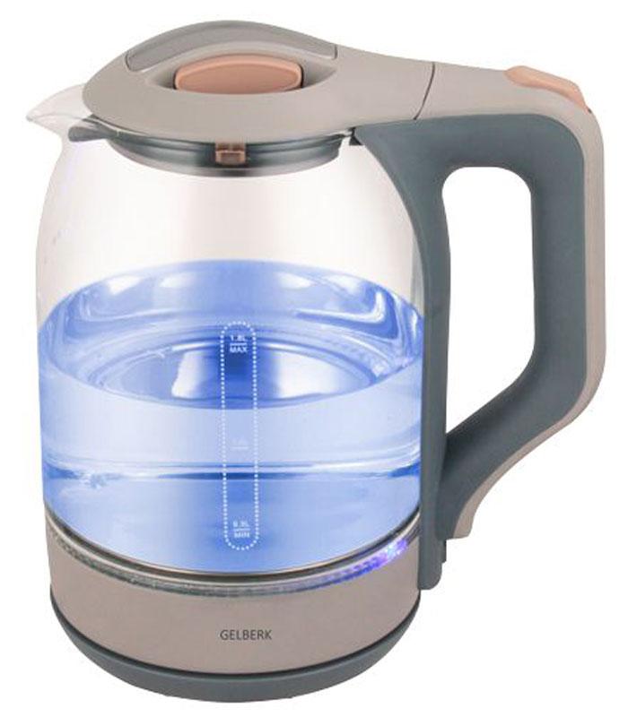 Gelberk GL-402 чайник электрическийGL-402Электрический чайник Gelberk GL-402 прост в управлении и долговечен в использовании. Изготовлен извысококачественных материалов. Мощность 1500 Вт позволит вскипятить 1,8 литра воды в считанные минуты.Чайник имеет шкалу уровня воды. Беспроводное соединение позволяет вращать чайник на подставке на 360°. Дляобеспечения безопасности при повседневном использовании предусмотрены функция автовыключения, а такжезащита от включения при отсутствии воды.