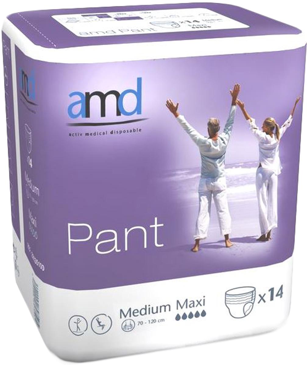 AMD Подгузники-трусики Pant M Maxi 14 шт minimax подгузники для взрослых размер m 10 шт