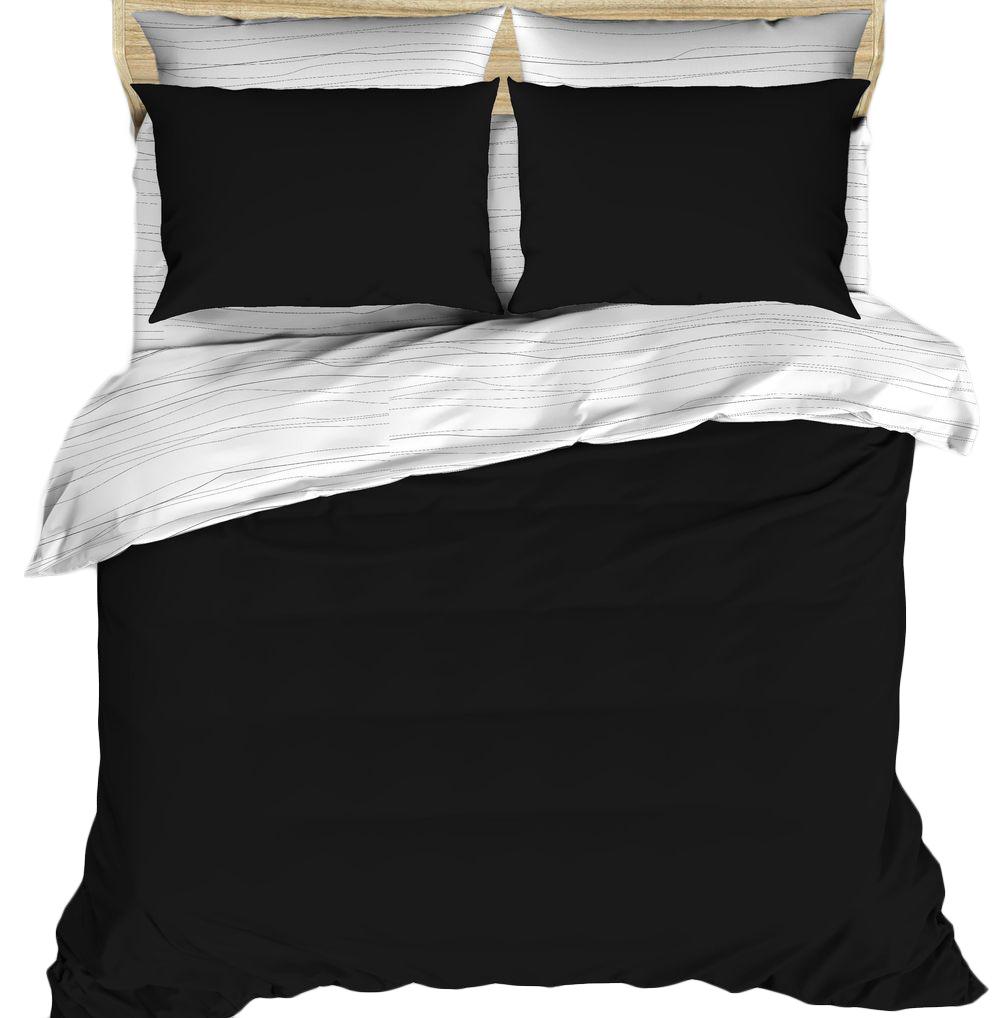 Комплект белья Василиса Будто случайно, 2-спальный, цвет: черный, белый, наволочки 70x70, 50x70. 163540 комплекты белья rhs комплект белья