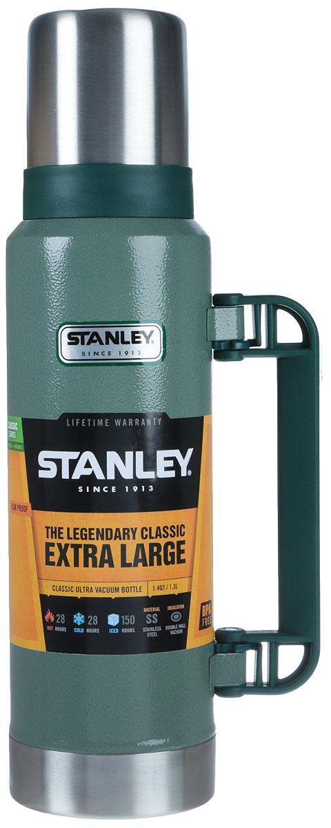 Термос Stanley Legendary Classic, цвет: темно-зеленый, 1,3 л10-01032-037_темно-зеленый