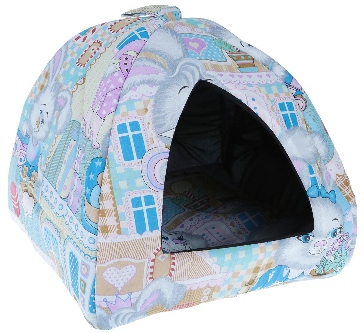 Домик для кошек и собак Гамма Юрта, 40 х 40 х 36 см гамма миска для кошек и собак n1