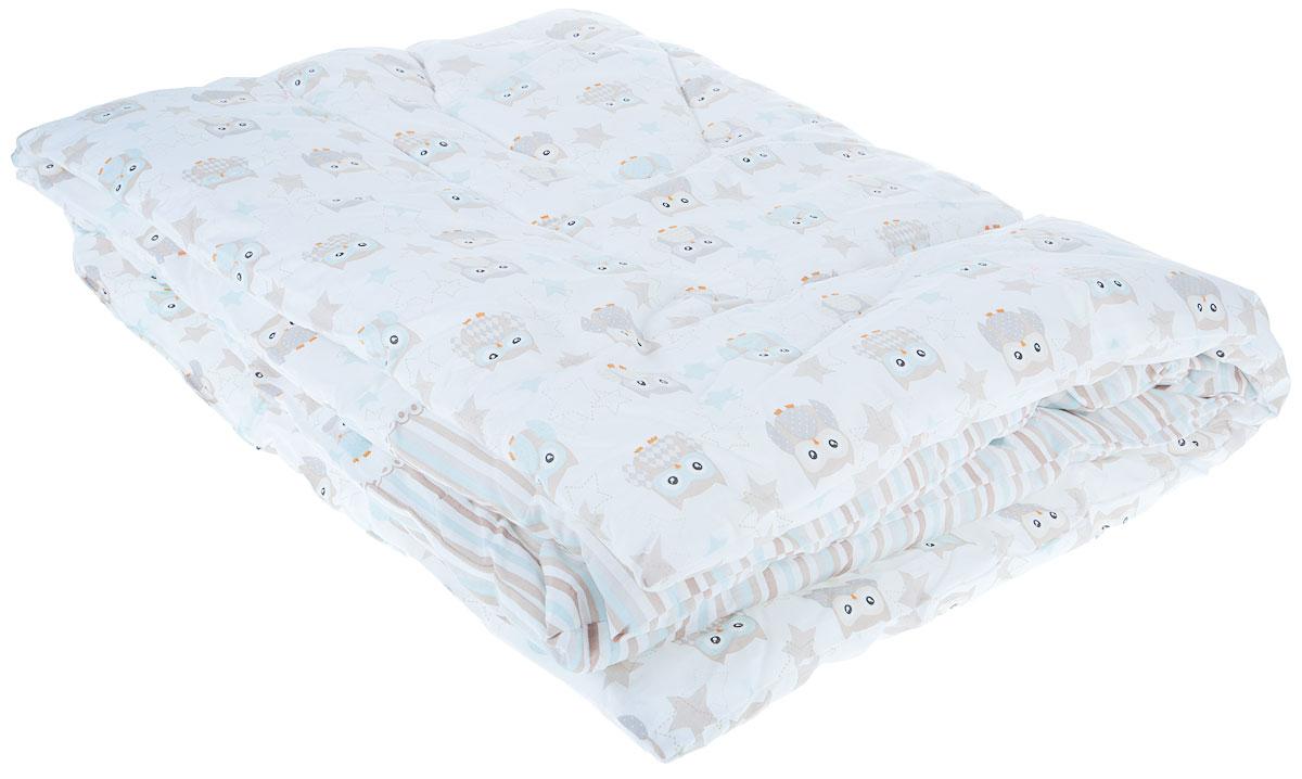 Сонный гномик Одеяло детское стеганое Совы цвет белый 110 х 140 см