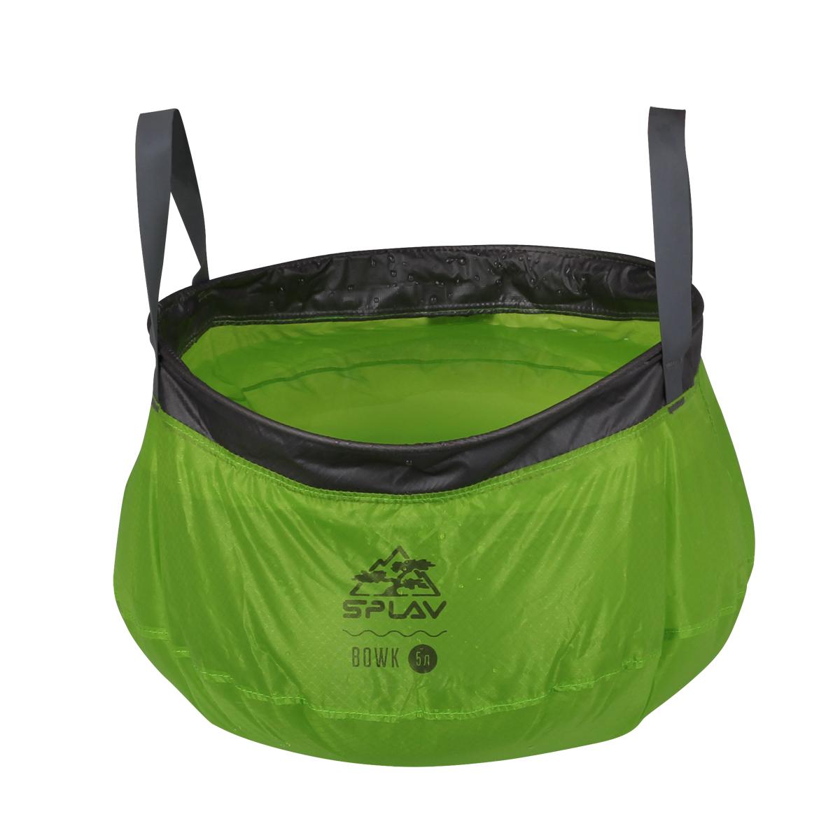 Ведро складное Bowk Сплав, цвет: зеленый, 5 л outventure складное ведро outventure 10 л