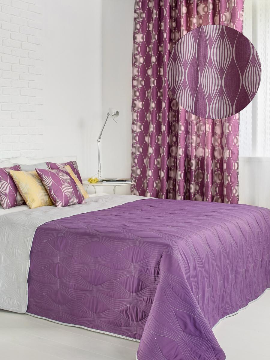 Штора готовая Wess Energy, на ленте, цвет: фиолетовый, серый, 200 х 280 смB15-03Изящная штора Wess выполнена из жаккардовой ткани. Приятная текстура и цвет привлекут ксебе внимание и органично впишутся в интерьер помещения. Штора крепится на карниз припомощи ленты, которая поможет красиво и равномерно задрапировать верх.