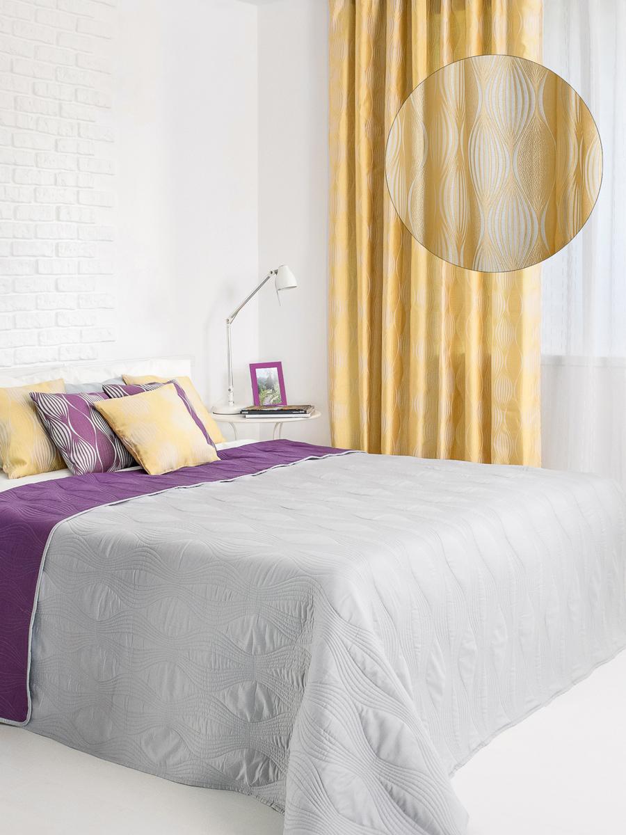 Штора готовая Wess Energy, на ленте, цвет: желтый, серый, 200 х 280 смB15-04Изящная штора Wess выполнена из жаккардовой ткани. Приятная текстура и цвет привлекут ксебе внимание и органично впишутся в интерьер помещения. Штора крепится на карниз припомощи ленты, которая поможет красиво и равномерно задрапировать верх.