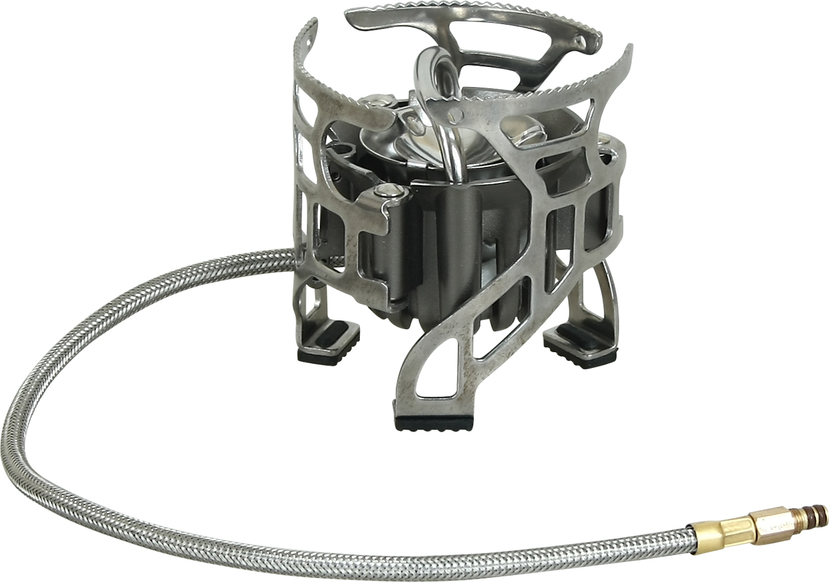 """Горелка мультитопливная Track """"Dual"""" - надежная, устойчивая, мощная.   Удлиненный топливопроводный шланг (40 см.)  Для любителей путешествовать компаниями.  Рекомендуется использовать как основную горелку.  Работает как на бензине, так и на газе.  Не теряет функциональности в условиях высокогорья и при морозе.   В комплекте: горелка, емкость для жидкого топлива (500 мл), насос для жидкого топлива, переходник для газового баллона, тканевый чехол, инструкция по эксплуатации.  Мультитопливная горелка """"Dual"""" Track – мощная и надежная, позволяющая в зависимости от условий эксплуатации использовать в качестве горючего либо газ, либо бензин.  Бензин гораздо лучше газа ведет себя в условия высокогорья и низких температур, он медленнее сгорает и его проще достать в отдаленных районах.  Газом в условиях средней полосы пользоваться легче и безопаснее, но его нельзя перевозить самолетом, а купить можно далеко не везде.  Узел крепления баллона отделен от горелки 40 сантиметровым топливопроводным шлангом, благодаря чему она устойчива и баллон при необходимости можно подогревать (очень осторожно), не прерывая процесса приготовления пищи.  Мощность горелки и в бензиновом, и в газовом вариантах позволяет приготовить еду на группу от 3-х до 6-ти человек. Система предварительного нагрева топлива гарантирует экономичную и стабильную работу. Три раскрывающиеся ножки- держателя для установки посуды обеспечивают устойчивость и позволяют ставить посуду с большой площадью основания."""