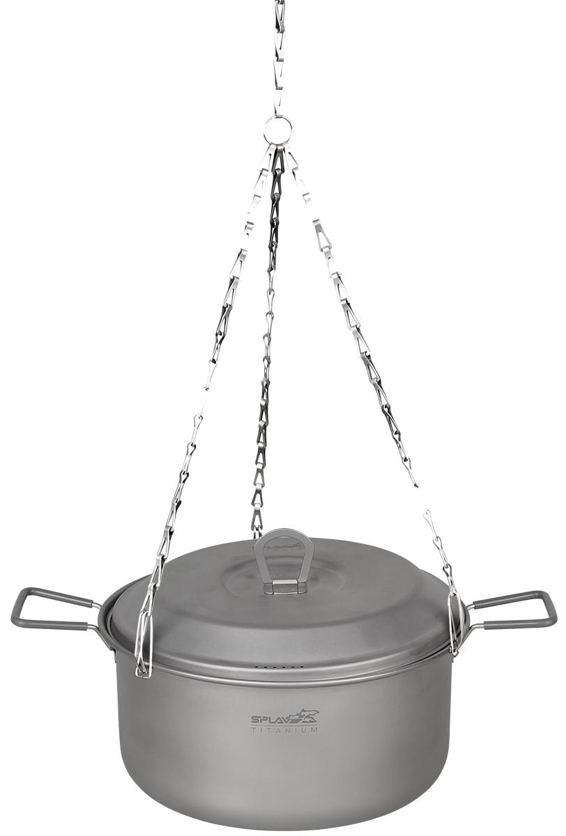 Костровой трос титановый сборный  Сплав , цвет: серый металлик - Туристическая посуда