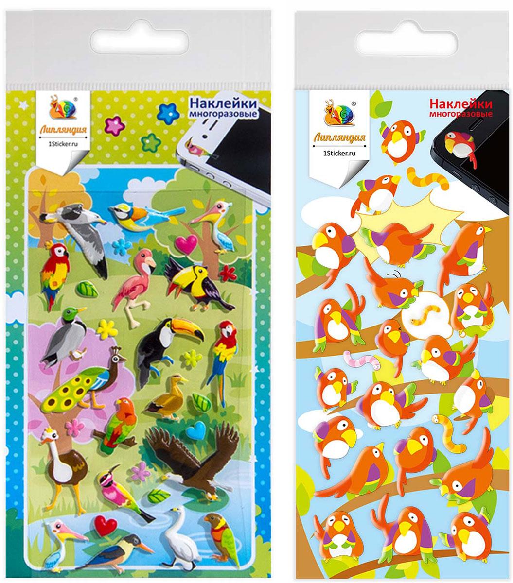 """Набор наклеек """"Липляндия"""" - это увлекательное занятие для раннего развития ваших детей и  творчества взрослых. Набор для творчества с яркими персонажами погружает в игру, развивает  воображение и моторику ребенка. Многоразовые наклейки выполнены из качественных  материалов и разработаны с учетом возрастных особенностей детей.  В комплекте 2 листа с  наклейками."""