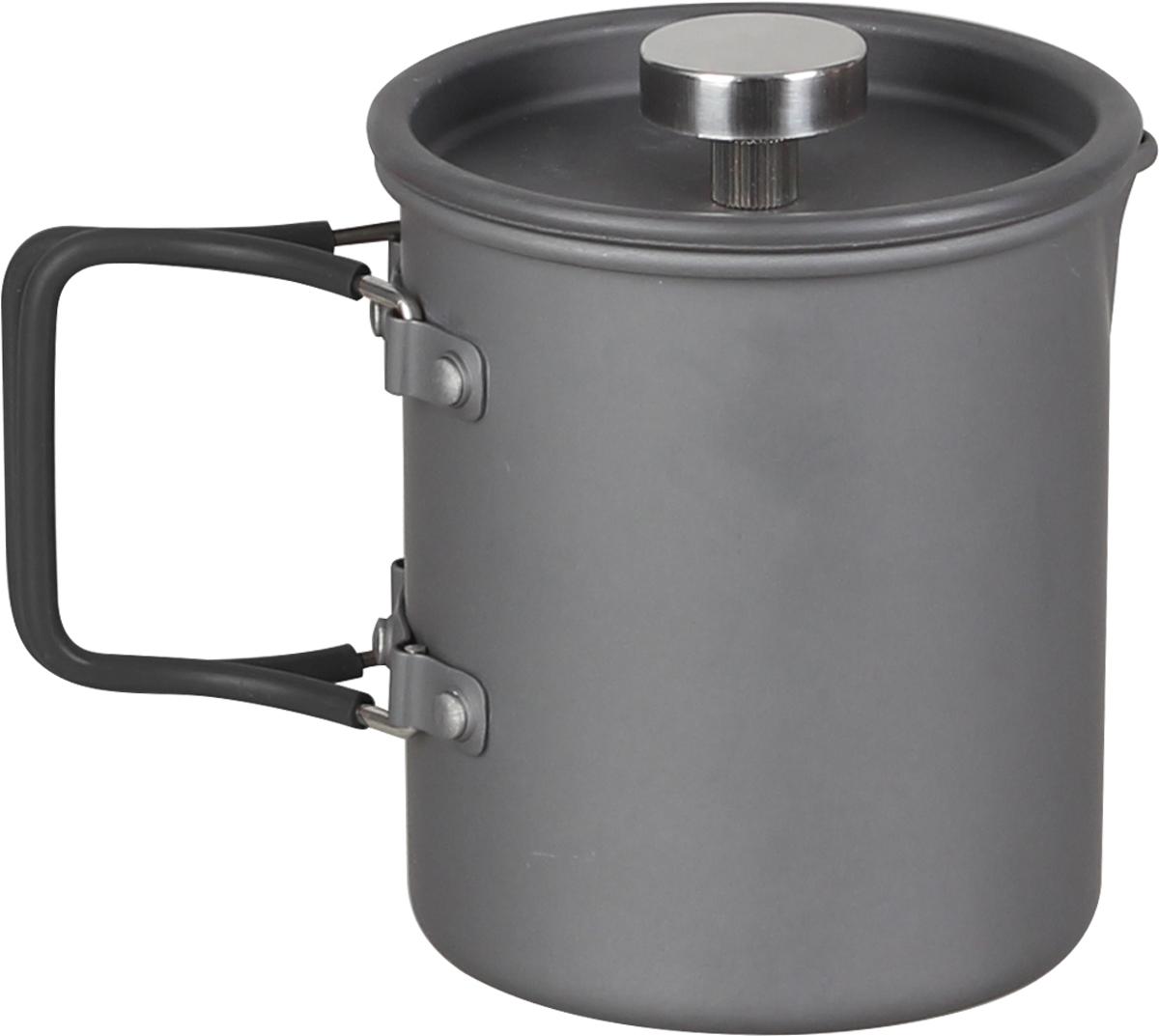Кружка-чайник заварной Сплав, цвет: серый металлик, 600 мл5108725Что может скрасить суровые походные будни больше, чем кружка горячего чая вечером? Наверное, только та же кружка, наполненная ароматным кофе, с утра, особенно, если этот кофе принесут в палатку перед подъемом.Кружка френч-пресс поможет ускорить процесс приготовления напитков, и подчеркнуть их достоинства. Кроме того дежурным не придется ломать голову, над вопросом очередности приготовления блюд - всегда можно отлить кипятка в одну кружку, прежде чем засыпать в кан крупу.Для того чтобы заварить чай или кофе в этой кружке, нужно засыпать молотый кофе или чай, залить кипяток, подождать 5 мин для кофе и 3-4 мин для чая и опустить плунжер на дно кружки. Напиток готов, и можно наслаждаться жизнью.Изготовленная из анодированного алюминия емкость обладает обычной для алюминиевой посуды легкостью и не ухудшает вкуса напитка.Ручки складываются, что увеличивает компактность упаковки.Силиконовые трубки на ручках кружки-чайника не дадут Вам обжечься.Носик позволяет безопасно разливать напиток по кружкам друзей.Анодированный алюминий (anodised aluminium) — это алюминий со специальным покрытием, получаемым электролитическим способом, которое защищает от окисления и служит защитой от механических повреждений. Кружка-чайник легко чистится. Покрытие не разрушается со временем и не отслаивается.