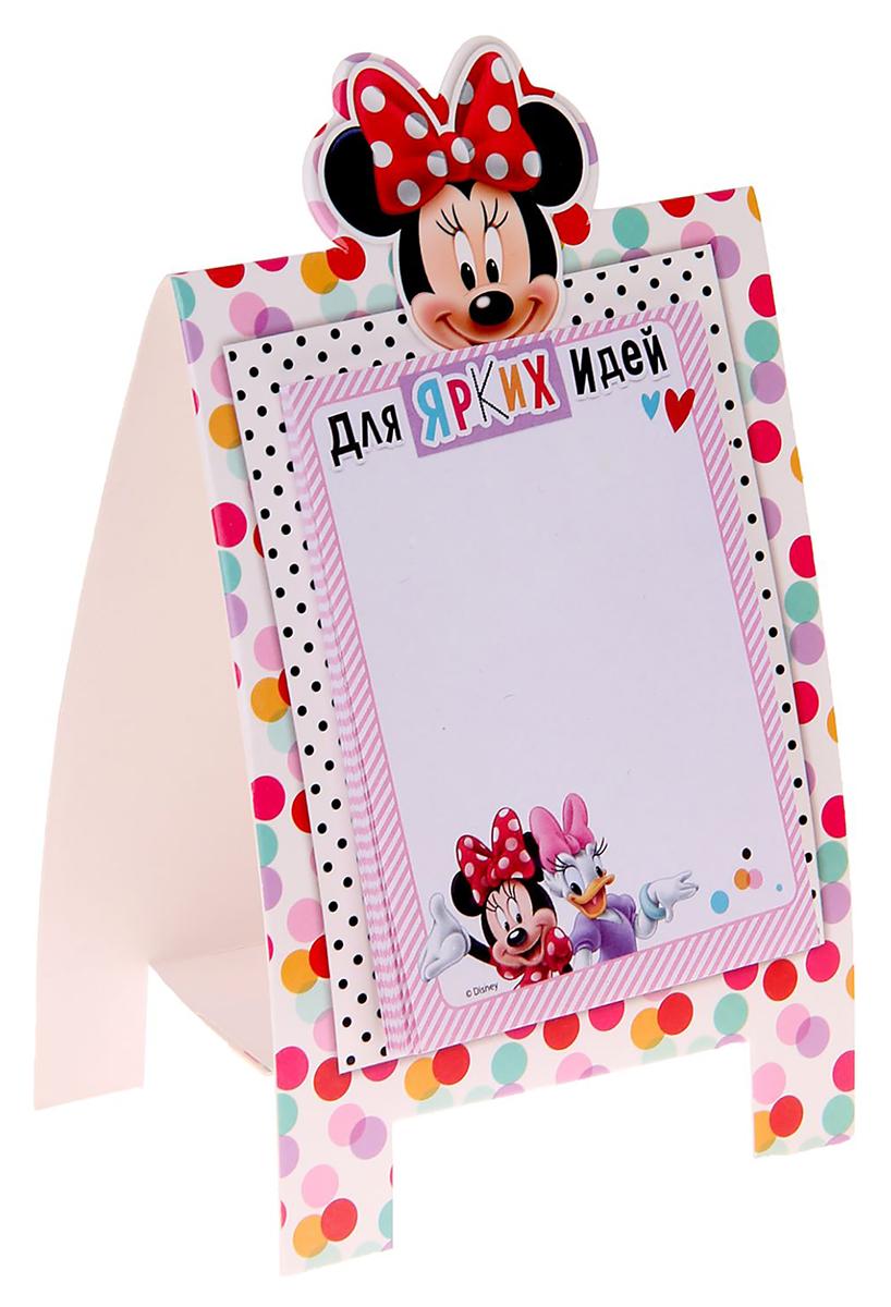 Disney Блок для записей Блок для записей Для ярких идей 10 x 15 см 30 листов1161106Добавьте в жизнь волшебства с Disney!Бумажный блок на подставке — стильное украшение детского стола. Он сохранит важные мысли, новые идеи, номера телефонов или список дел, который оставили родители маленькому помощнику. Благодаря необычной форме и удобным отрывным листочкам пользоваться им легко, а любимые герои будут радовать кроху день за днем.