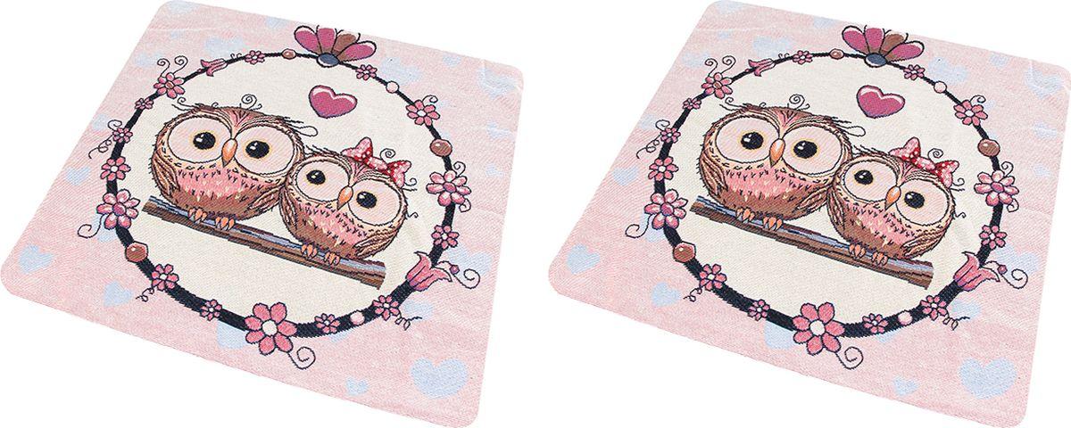 Наволочка декоративная EL Casa Совы - молодожены, 43 x 43 см, 2 шт подушка декоративная el casa совы 43 x 43 см