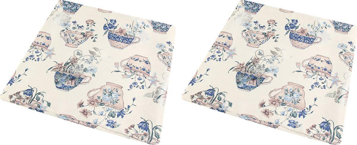 Наволочка декоративная EL Casa Синий натюрморт, цвет: синий, 43 x 43 см, 2 шт171380Декоративная наволочка на подушку. Благодаря своему лаконичному дизайну удачно впишется в интерьер любого дома. Элегантность немаркой окраски и комфорт впечатлят хозяев и их гостей.
