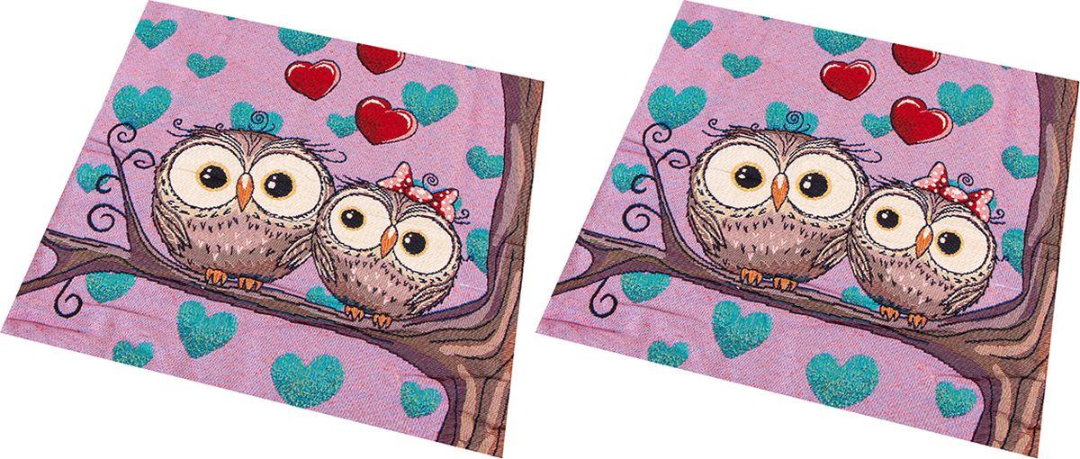 Наволочка декоративная EL Casa Влюбленные совы, цвет: розовый, 43 x 43 см, 2 шт. 171567171567Декоративная наволочка на подушку. Благодаря своему лаконичному дизайну удачно впишется в интерьер любого дома. Элегантность немаркой окраски и комфорт впечатлят хозяев и их гостей.