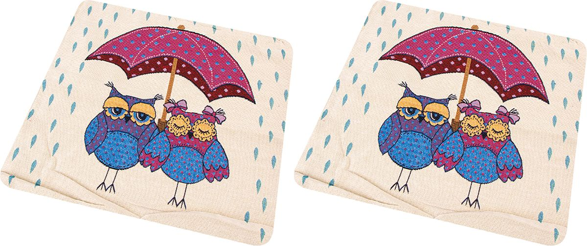 Наволочка декоративная EL Casa Совы под зонтом, 43 x 43 см, 2 шт171579Декоративная наволочка на подушку. Благодаря своему лаконичному дизайну удачно впишется в интерьер любого дома. Элегантность немаркой окраски и комфорт впечатлят хозяев и их гостей.