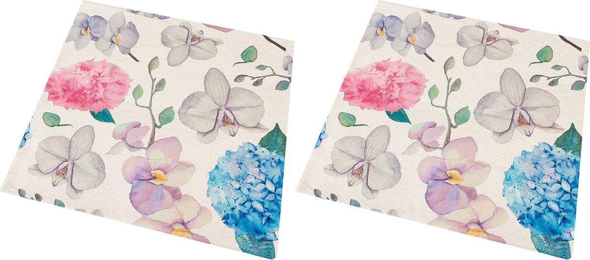 """Декоративная наволочка на подушку EL Casa """"Орхидеи"""" благодаря своему лаконичному дизайну удачно впишется в интерьер любого дома. Элегантность немаркой окраски и комфорт впечатлят хозяев и их гостей."""