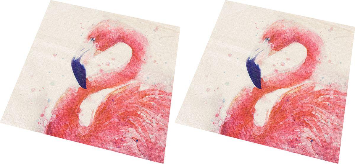 Наволочка декоративная EL Casa Фламинго, цвет: розовый, 43 x 43 см, 2 шт171639Декоративная наволочка на подушку. Благодаря своему лаконичному дизайну удачно впишется в интерьер любого дома. Элегантность немаркой окраски и комфорт впечатлят хозяев и их гостей.