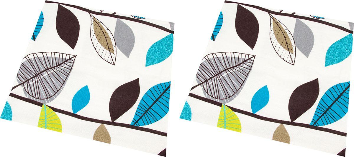 Наволочка декоративная EL Casa Графичные листья, цвет: голубой, 43 x 43 см, 2 шт. 171652171652Декоративная наволочка на подушку. Благодаря своему лаконичному дизайну удачно впишется в интерьер любого дома. Элегантность немаркой окраски и комфорт впечатлят хозяев и их гостей.