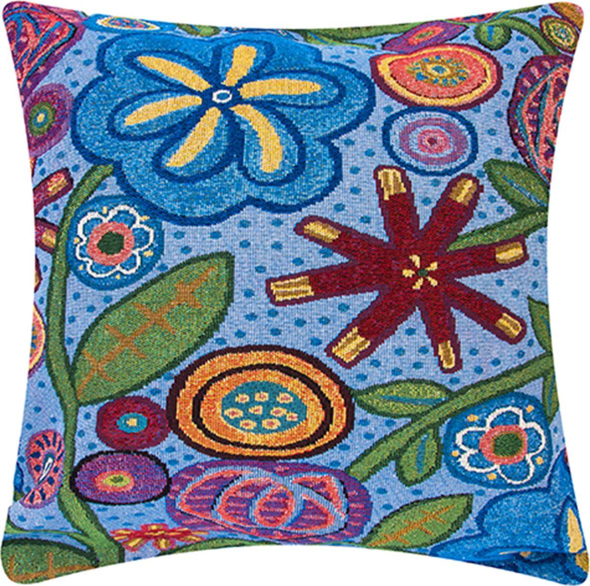 Подушка декоративная EL Casa Яркое лето, 43 x 43 см171688Декоративная подушка прекрасно дополнит интерьер спальни или гостиной. Состав наволочки: лен -50%, полиэстер-50%. Она легко снимается, благодаря молнии. Внутри подушки находится мягкий наполнитель.