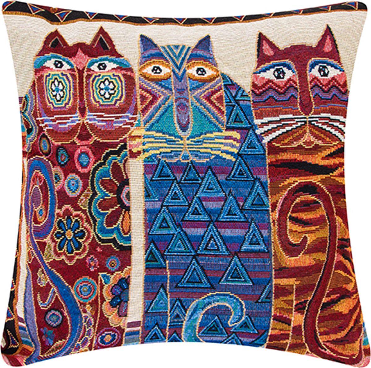 Подушка декоративная EL Casa Три кота, 43 x 43 см171689Декоративная подушка прекрасно дополнит интерьер спальни или гостиной. Состав наволочки: лен -50%, полиэстер-50%. Она легко снимается, благодаря молнии. Внутри подушки находится мягкий наполнитель.