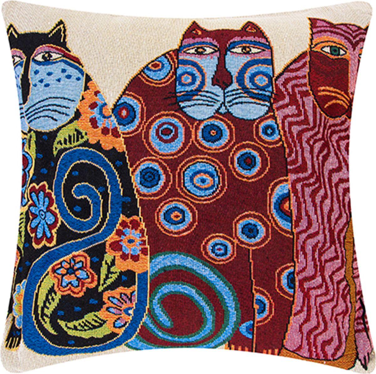 Подушка декоративная EL Casa Винтажные коты, 43 x 43 см171691Декоративная подушка прекрасно дополнит интерьер спальни или гостиной. Состав наволочки: лен -50%, полиэстер-50%. Она легко снимается, благодаря молнии. Внутри подушки находится мягкий наполнитель.