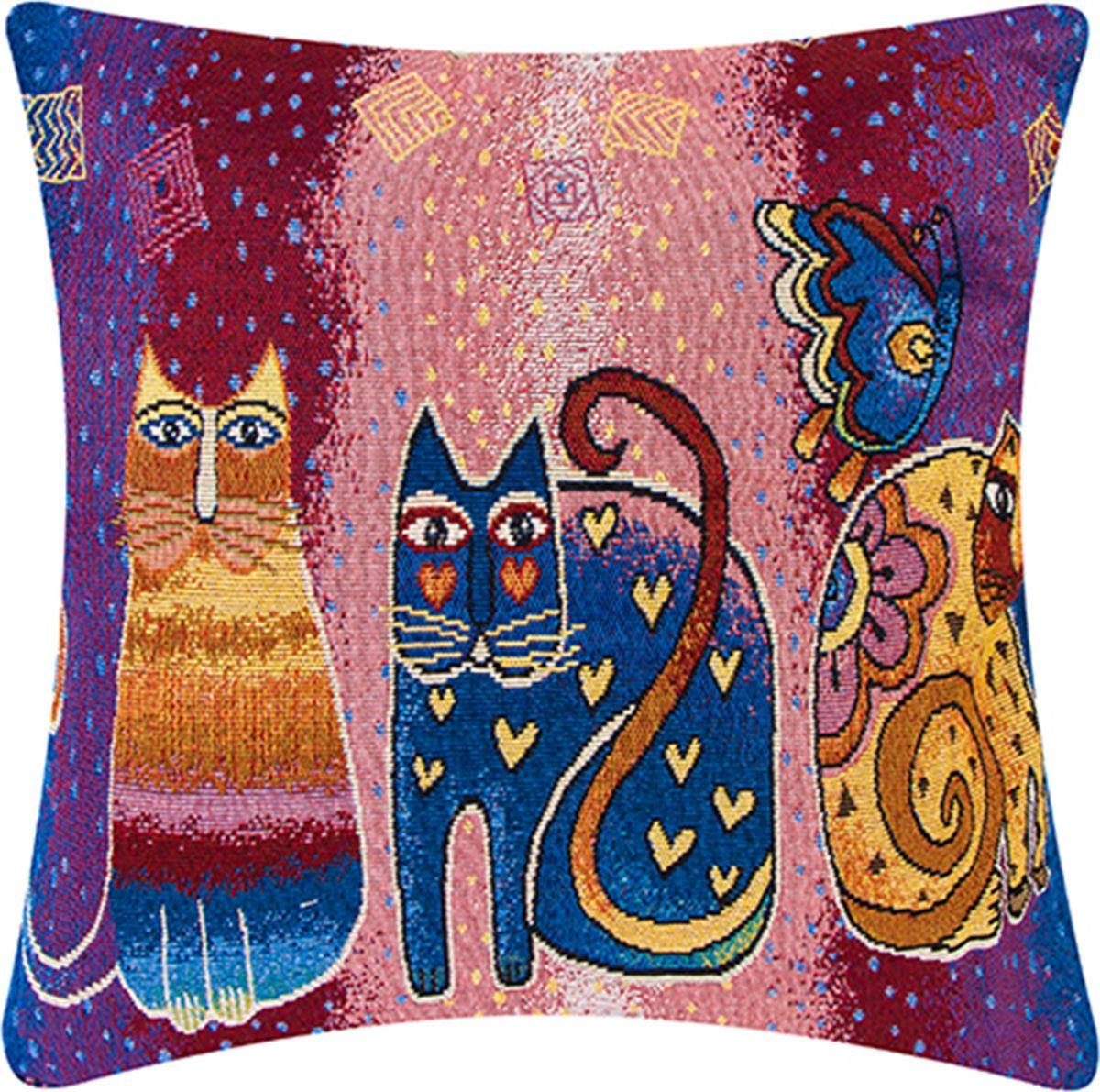 Подушка декоративная EL Casa Винтажные кошки, 43 x 43 см171692Подушка декоративная EL Casa Винтажные кошки прекрасно дополнит интерьер спальни или гостиной. Она легко снимается, благодаря молнии. Внутри подушки находится мягкий наполнитель.Состав наволочки: лен 50%, полиэстер 50%.