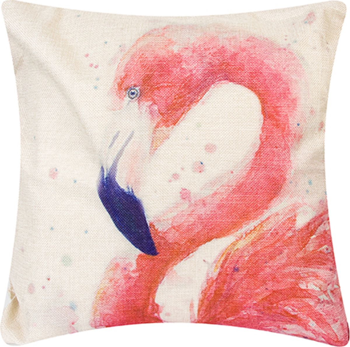 Подушка декоративная EL Casa Фламинго171706Декоративная подушка прекрасно дополнит интерьер спальни или гостиной. Состав наволочки: лен -50%, полиэстер-50%. Она легко снимается, благодаря молнии. Внутри подушки находится мягкий наполнитель. Размер: 43 x 43 см