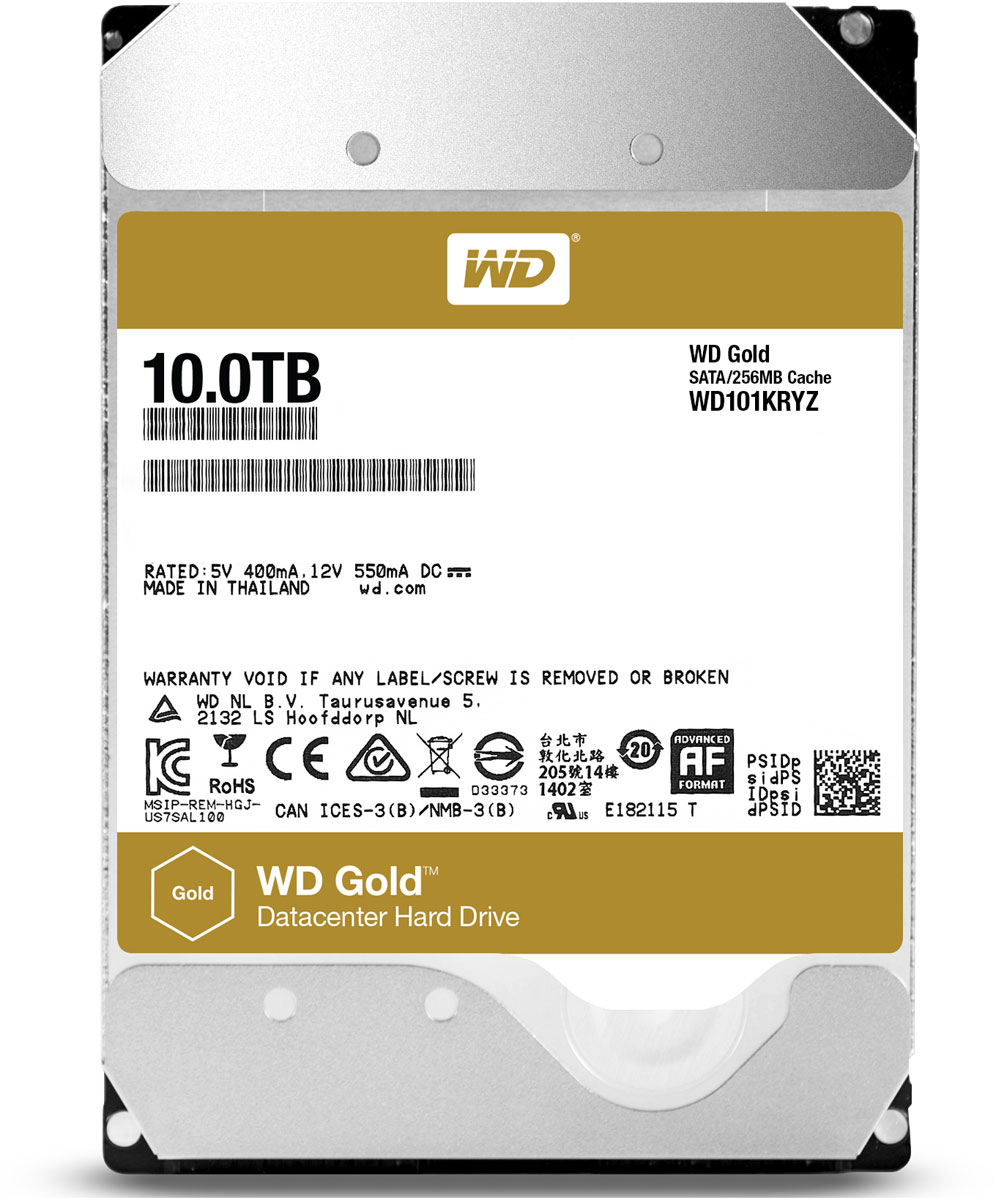 WD Gold 10TB внутренний жесткий диск (WD101KRYZ)1197965