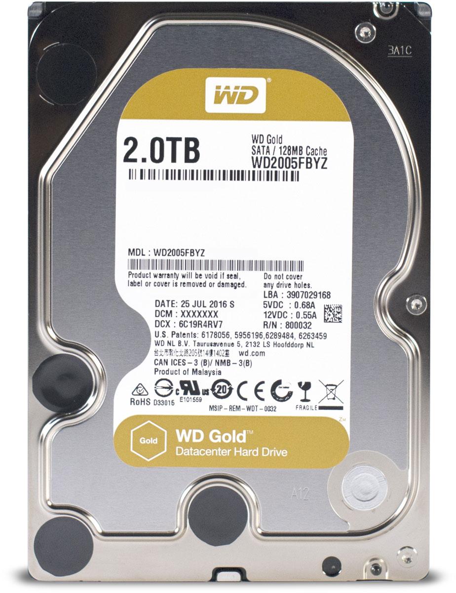 WD Gold 2TB внутренний жесткий диск (WD2005FBYZ)1200779