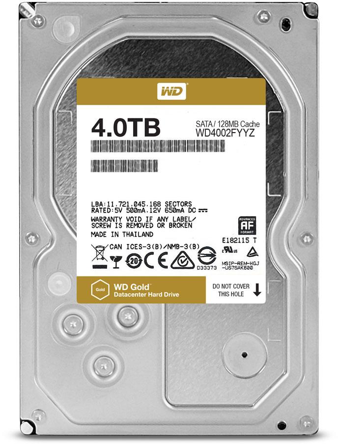 WD Gold 4TB внутренний жесткий диск (WD4002FYYZ) внешние жесткие диски