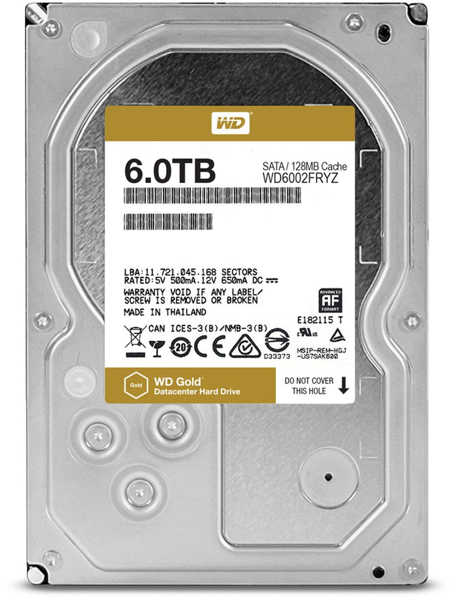 WD Gold 6TB внутренний жесткий диск (WD6002FRYZ)1191400