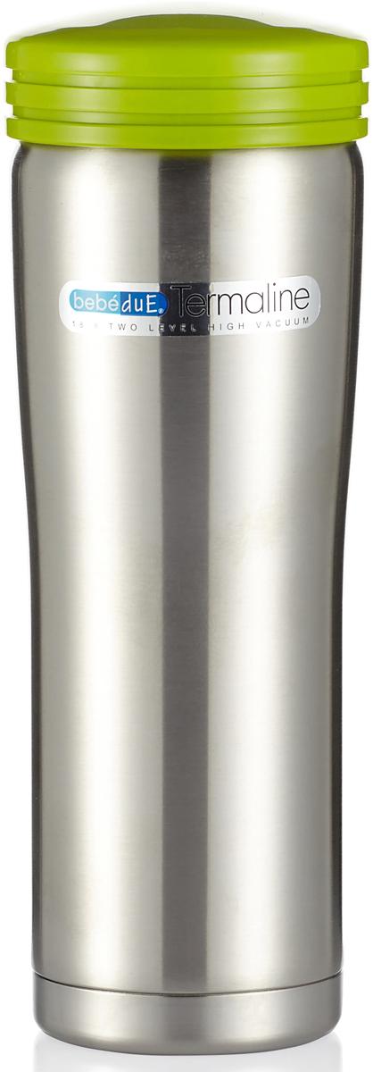 Bebe Due Термос с сумкой-чехлом 500 мл80099Термос 500 мл с сумкой чехлом на ремне. Термос выполнен из высококачественной нержавеющей стали, не содержит вредных веществ. Поддерживает температуру напитка 8 часов, в зависимости от температуры заливки. Может сохранять как горячую, так и холодную температуру напитка. Ударопрочный, герметичный, удобная форма. Незаменимый помощник на длительных прогулках, путешествиях, тренировках, при посещении роддомов и больниц. Можно мыть в посудомоечной машине.Bebe Due Термос 500 мл с сумкой чехлом