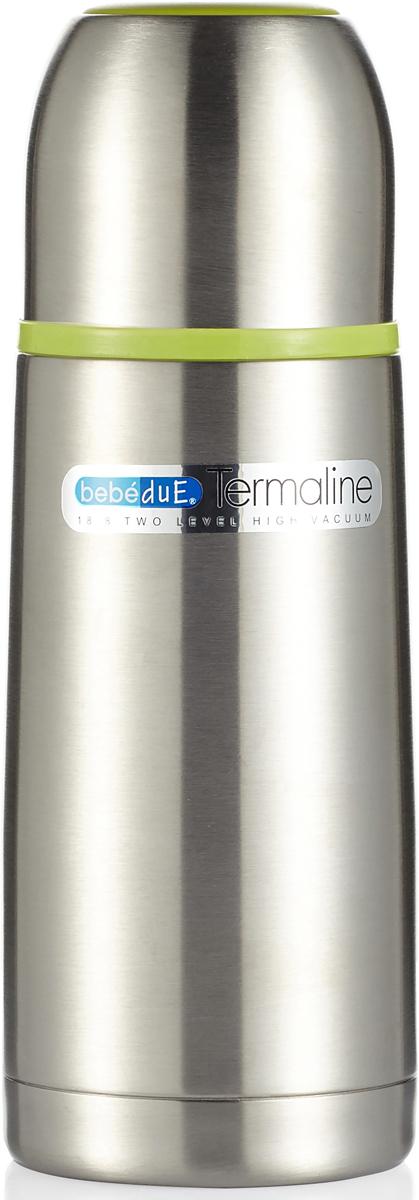 Bebe Due Термос с клапаном для раздачи жидкости цвет стальной 300 мл