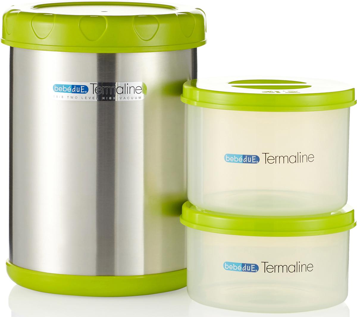 Bebe Due Термос с двумя резервуарами 1,1 л поильники bebe due чашка непроливайка bebe due medic