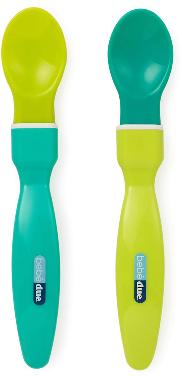 Bebe Due Набор ложечек для начала прикорма с 4 месяцев цвет салатовый зеленый 2 шт