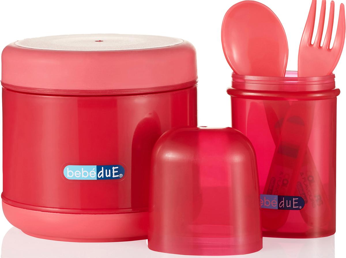 Bebe Due Набор для кормления 300 мл цвет розовый красный