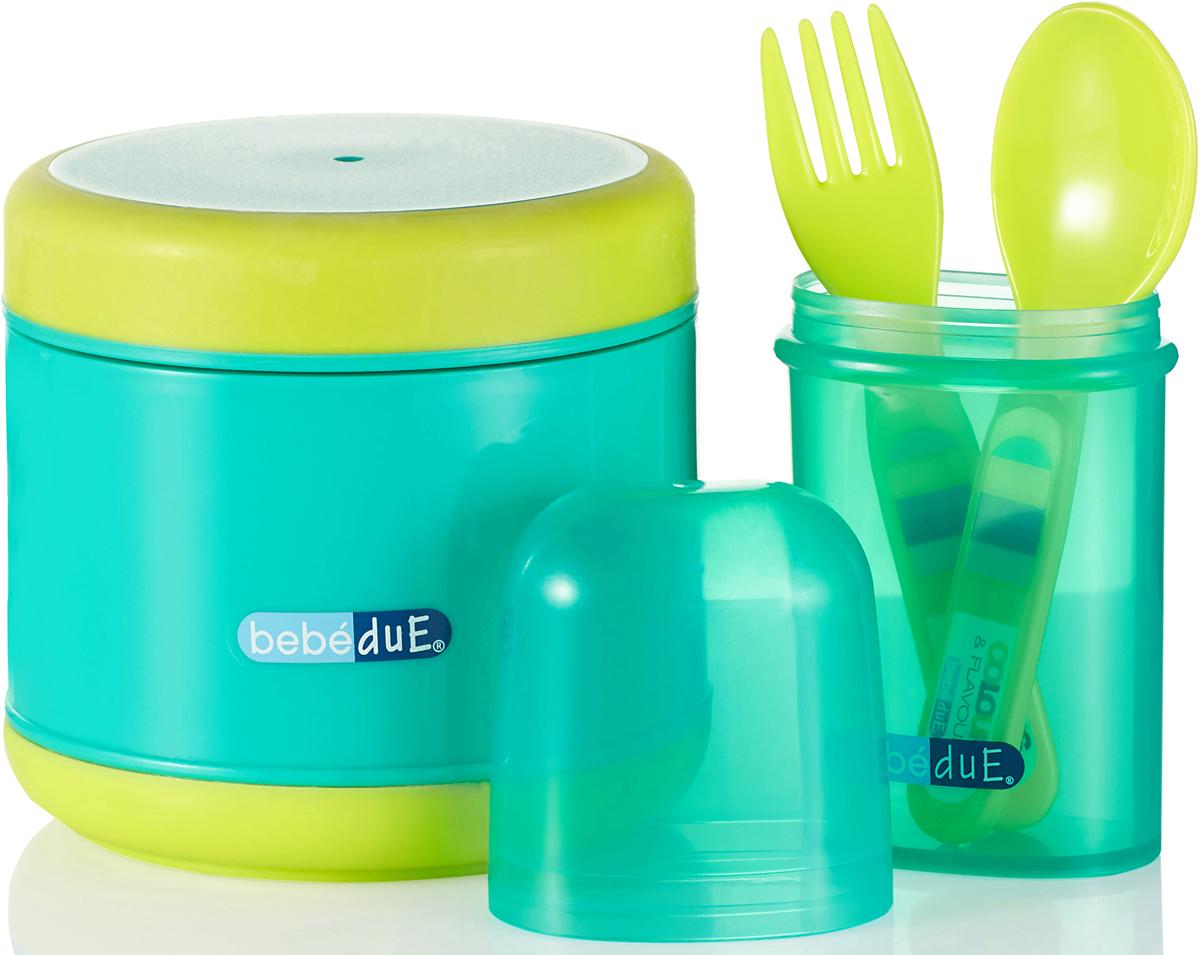 Bebe Due Набор для кормления 300 мл цвет бирюзовый салатовый - Все для детского кормления