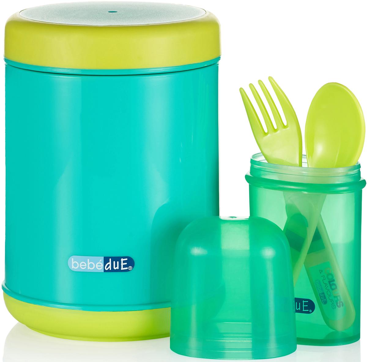 Bebe Due Набор для кормления 500 мл бирюзовый салатовый - Все для детского кормления