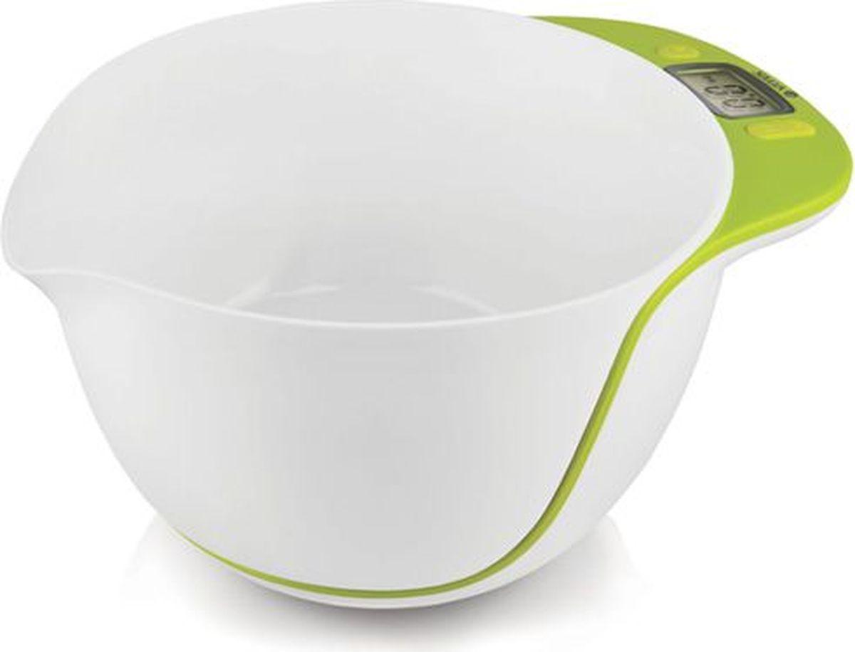 Vitek VT-2402(G), White весы кухонныеVT-2402(G)Легкие практичные кухонные весы Vitek VT-2402(G) придутся по вкусу многим хозяйкам. Визуально они напоминают простую глубокую чашу, на торце которой располагается ЖК-табло, где высвечивается весовой показатель в граммах. В данных весах вы оцените возможность измерения жидкости. При этом специальный носик на крае чаши позволит вылить взвешенную жидкость в любую другую емкость, не потеряв ни одной капли. Весы автоматически включаются и выключаются, имеют возможность автоматического обнуления, отличаются простотой в уходе за счет съемной чаши объемом 5 л! С данными весами вы не будете испытывать всевозможных неудобств, когда для приготовления блюда требуется точное количество всех ингредиентов согласно рецепту.