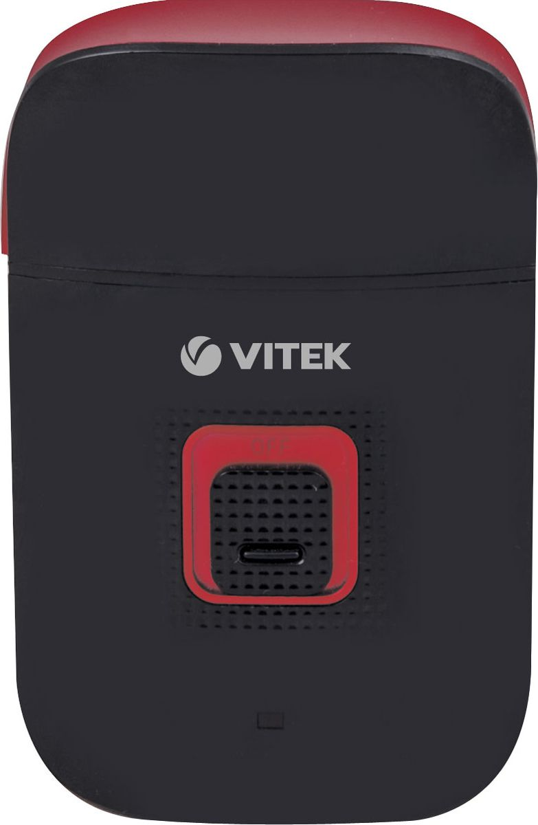 Vitek VT-2371(BK), Black электробритваVT-2371(BK)Характеристики: USB зарядкаесть Время зарядки аккумулятора8 ч Время работы от аккумулятора40 мин Дорожный чехолесть Защитная крышкаесть Индикатор зарядкиесть Система бритьясеточная Система питанияот сети/аккумулятора Устройство для зарядки и очисткиесть Щеточка для чисткиесть