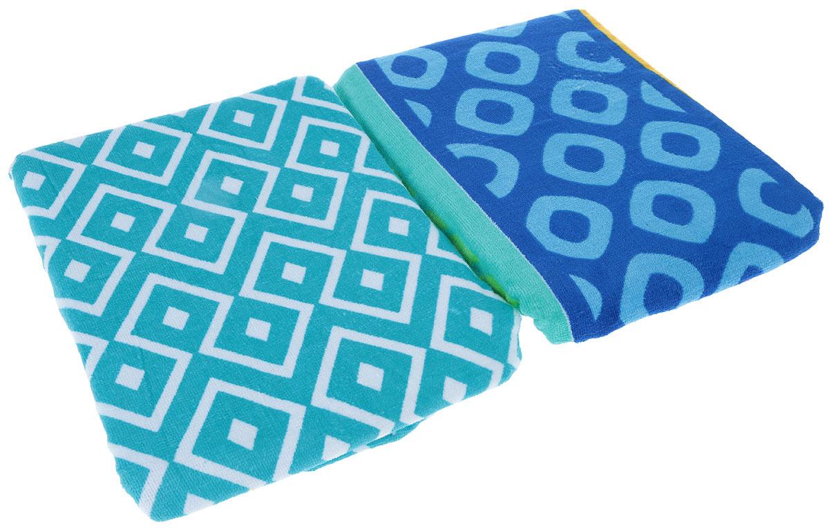 Набор пляжных полотенец Bonita, цвет: синий, бирюзовый, желтый, розовый, 75 х 150 см, 2 шт1010216818_синий, бирюзовый,желтый,розовыйНабор Bonita состоит из двух пляжных полотенец, выполненных из натуральной махровой ткани (100% хлопка). Изделия отлично впитывают влагу, быстро сохнут, сохраняют яркость цвета и не теряют формы даже после многократных стирок. Полотенца Bonita очень практичны и неприхотливы в уходе.Такой набор послужит приятным подарком.