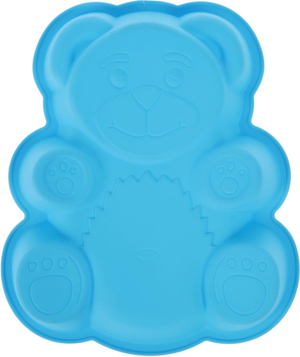 Форма для выпечки Доляна Мишка, цвет: голубой, 32 х 26,5 х 4 см1057075_голубойФорма для выпечки Доляна Мишка, цвет: голубой, 32 х 26,5 х 4 см