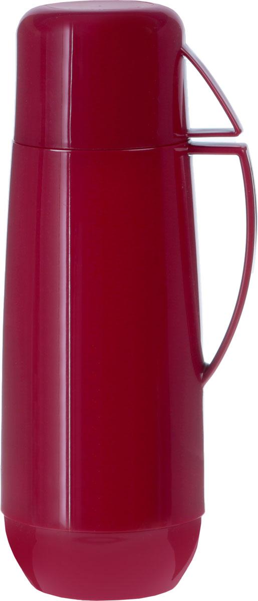 Термос с кружкой Family, 1 л, цвет: бордовый. 310518