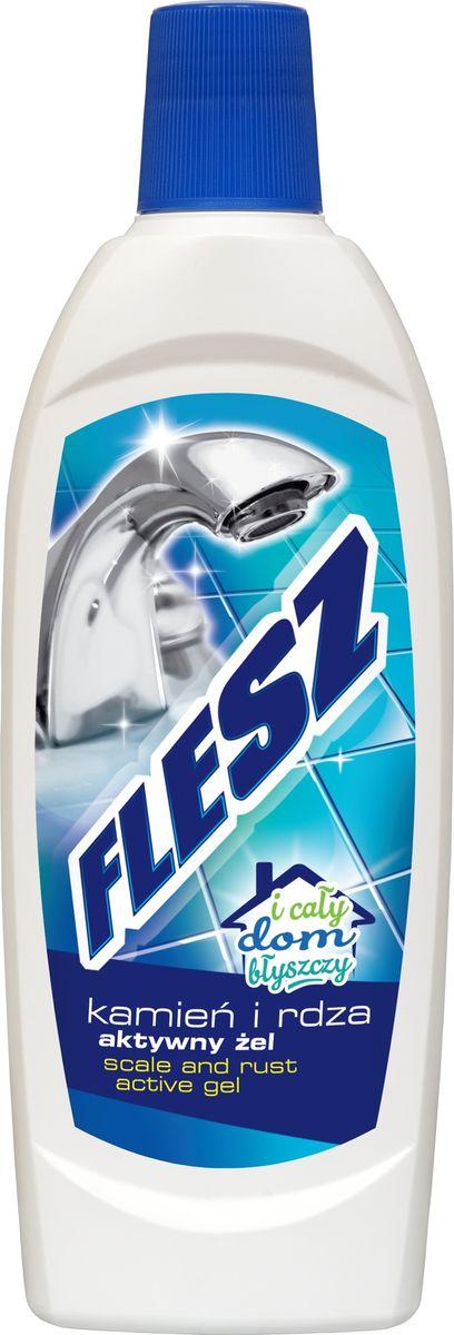 Гель Flesz, для удаления известкового налета и ржавчины, 500 мл5900498003512Гель эффективно удаляет известковый налет, ржавчину, пятна, мыльный осадок, жирные пятна с поверхности керамики, стекла, нержавеющей стали в ванной комнате, на кухне. После применения поверхности остаются чистыми и сияющими. Способ применения: нанесите на очищаемую поверхность, или губку, протрите очищаемую поверхность. Затем смойте водой. Товар сертифицирован.