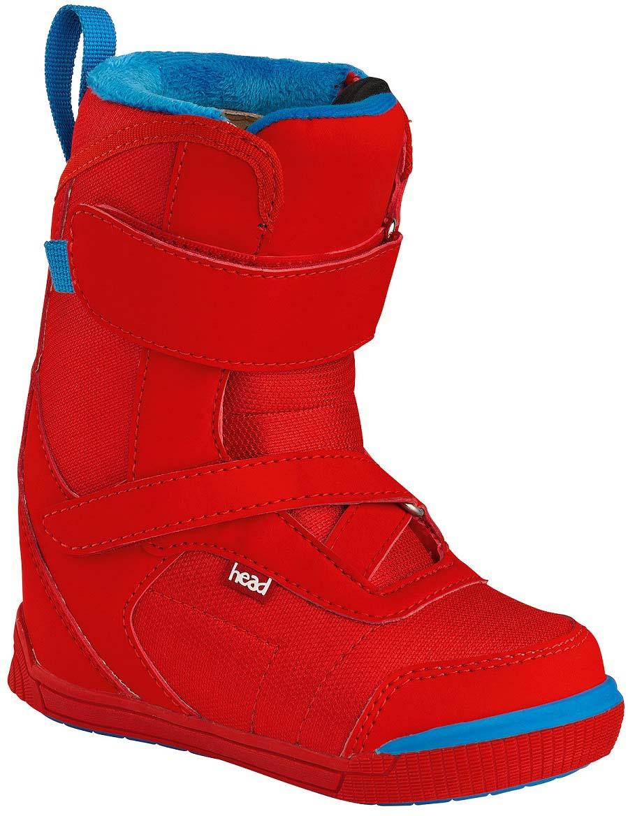 Ботинки для сноуборда Head Kid Velcro. 355606. Размер 17,5/18,5355606_175/185Простой и прочный ботинок для самых маленьких, в котором вашему ребенку будет тепло и комфортно весь день на склоне. Интегрированный внутренний ботинок, простая шнуровка в виде липучек, которые ребенок сможет регулировать сам. Термоизоляционная подошва. Ботинок можно регулировать под размер за счет дополнительной стельки. Длина стопы 17,5/18,5 см.Как выбрать сноуборд. Статья OZON Гид