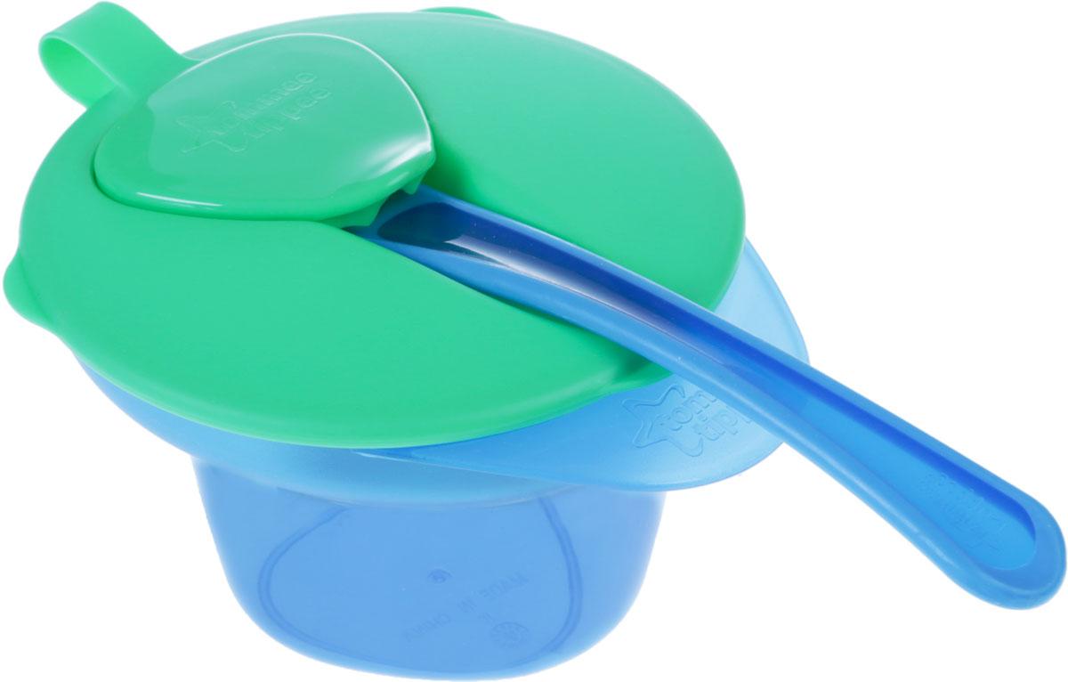 Tommee Tippee тарелочка с отделением для разминания и охлаждения пищи цвет зеленый