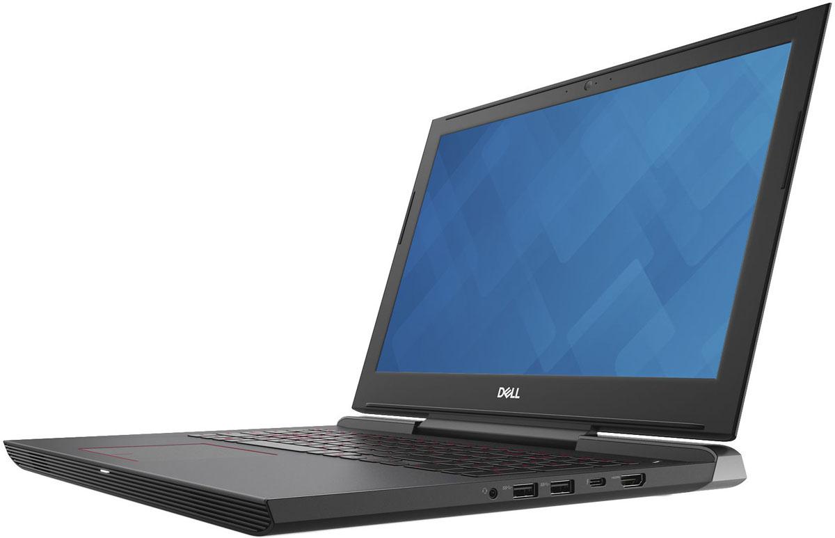 Dell Inspiron 7577-5199, Black7577-5199Dell Inspiron 7577 - 15,6-дюймовый игровой ноутбук, на котором воспроизводится изображение потрясающего качества благодаря использованию графического адаптера NVIDIA GeForce GTX 1050 и четырехъядерного процессора Intel 7-го поколения.Беспрецедентное удобство просмотра. Благодаря технологии IPS и разрешению Full HD экран вашего ноутбука станет окном в новую реальность с невероятной четкостью и изобилием цветов. Укомплектован панелями с антибликовым покрытием, которые разработаны специально для создания самых разных миров и сред.Отличный звук. Два динамика на передней панели мастерски настроены с помощью технологии Waves MaxxAudio Pro. Наслаждайтесь прекрасным звуком и почувствуйте каждый нюанс происходящего на экране.Никакого перегрева даже при высоких нагрузках. В корпусе ноутбука с агрессивным дизайном и толщиной стенок менее 1 сделаны огромные вентиляционные отверстия и установлены два кулера, что позволяет поддерживать стабильно высокую производительность системы во время воспроизведения ресурсоемких игр, а также обеспечивать ее эффективное охлаждение и низкий уровень шума.Благодаря материалам премиум-класса этот ноутбук выделяется изящностью исполнения. Жесткий корпус из магниевого сплава обеспечивает исключительную прочность устройства.Используемое в конструкции этого ноутбука крепление дисплея на одной петле предотвращает попадание выходного воздушного потока на дисплей. Такая конструкция позволила максимально увеличить объем внутреннего пространства и повысить эффективность охлаждения четырехъядерного процессора и выделенного графического адаптера.WASD-клавиатура повышенной прочности с длиной хода клавиши 1,4 мм четко реагирует на каждое нажатие.Сила и мощь виртуальной реальности. Этот ноутбук никогда не заставит вас ждать, поскольку он поставляется с поддержкой стандарта Wi-Fi 802.11ac для обеспечения высокоскоростного беспроводного соединения большого радиуса действия и технологии SmartByte для оптимизации приоритетов 