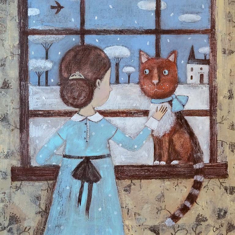 """Открытка CardsPoint """"Снег за окном"""". Автор: Светлана Соловьева"""