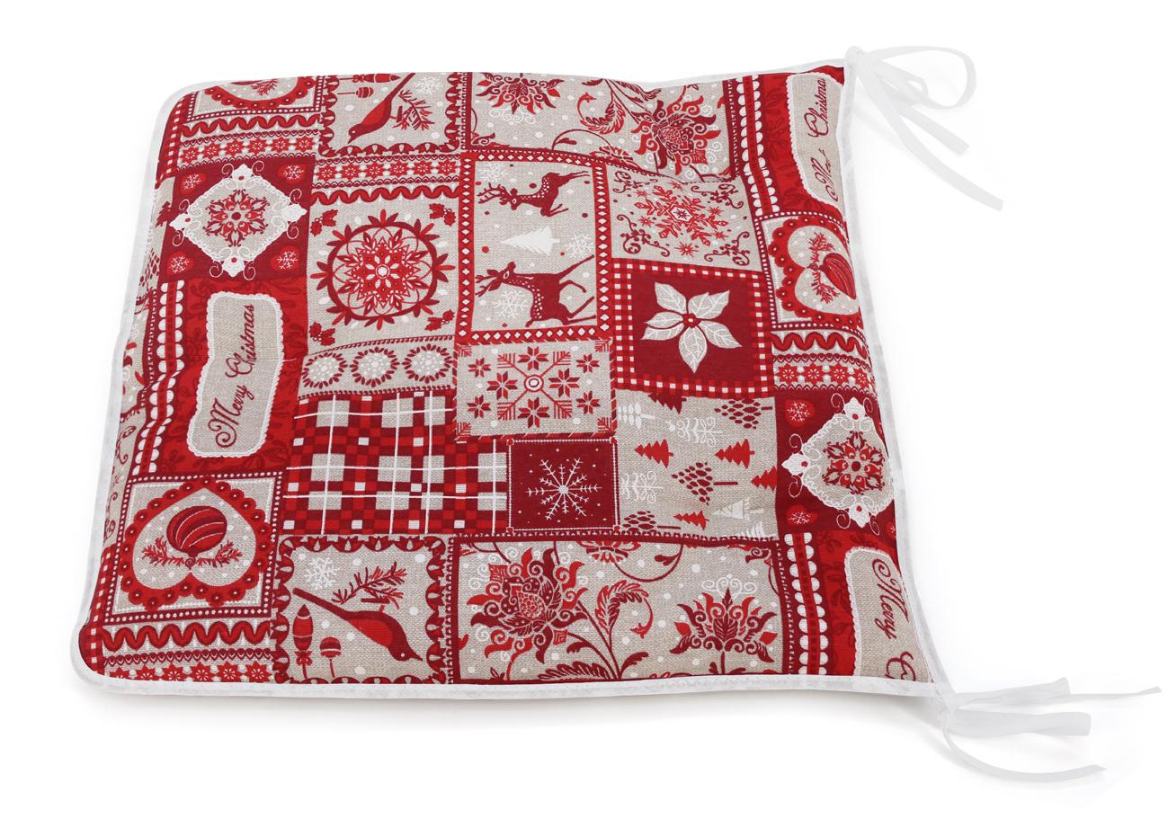 Сидушка на стул KauffOrt Тироль, цвет: красный, 40 х 40 см подушки на стул dorothy s home сидушка декоративная 35 35 цвет розовый