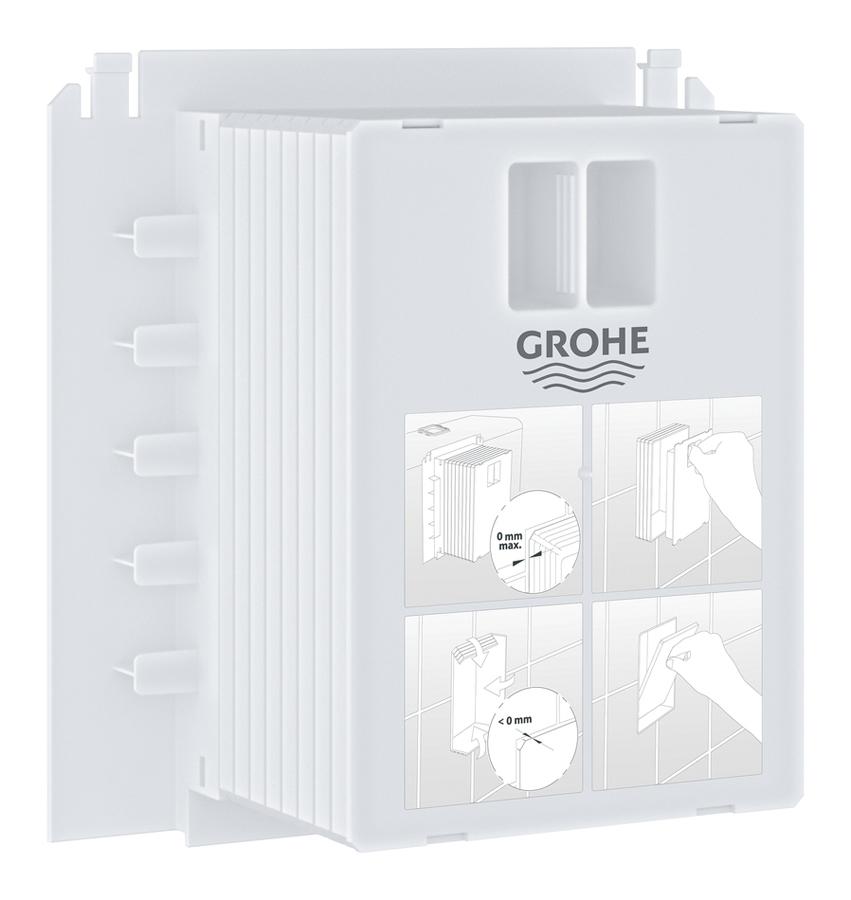 Короб ревизионный Grohe, для панелей смыва. 4091100040911000Панель смыва Grohe для Rapid SL и Uniset со смывным бачком GD 2